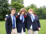 John with his two best friends Tyler and Colin on their high school graduation day.